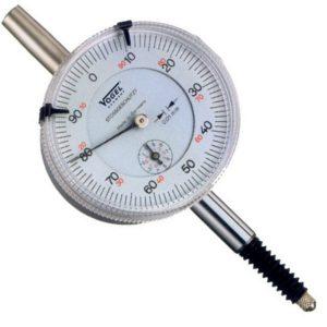 Đồng hồ so cơ 0-1mm Vogel 240143, độ chính xác 0.01mm, vạch chia 1mm.