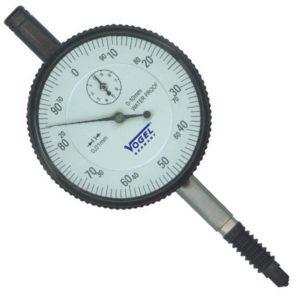 Đồng hồ so cơ 0-10mm Vogel 241142, độ chính xác 0.01mm, vạch chia 1mm.