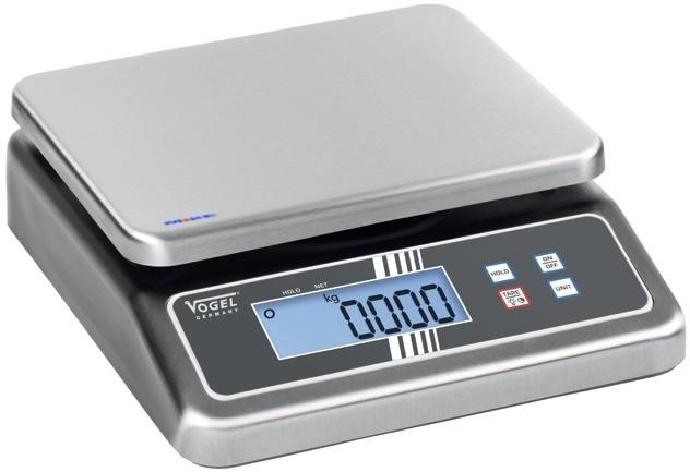 cân bàn điện tử, mạt bàn cân bằng inox. chống thấm nước, dầu. Vogel Germany
