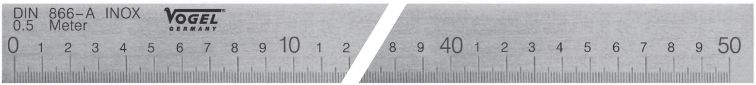 Thước cầu DIN 866 Form A. Vogel Germany.