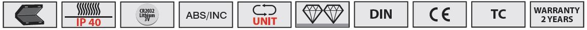 Biểu tượng tính năng của dòng thước panme điện tử
