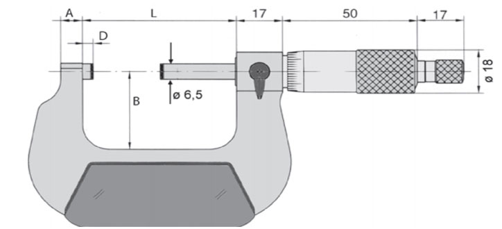 23137 Series Panme cơ đo ngoài 0-4 inch, độ chính xác 0.0001 inch