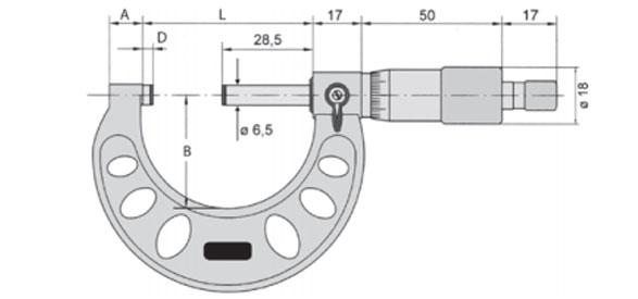 Bản vẽ 23130 Series Panme cơ đo ngoài